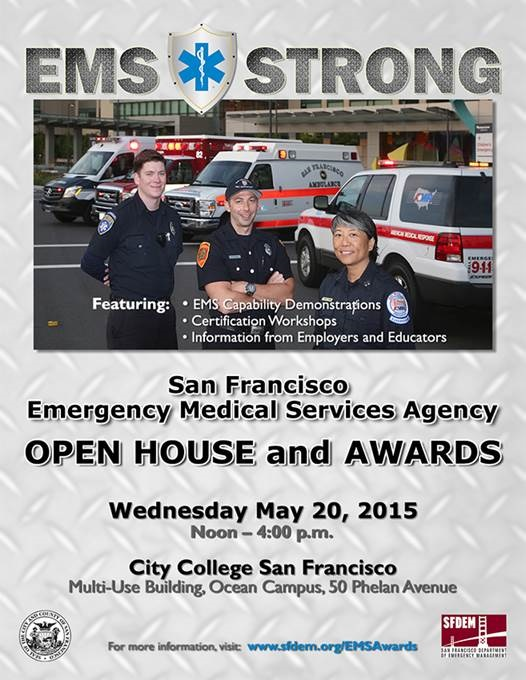 Flyer for EMS Open House Event